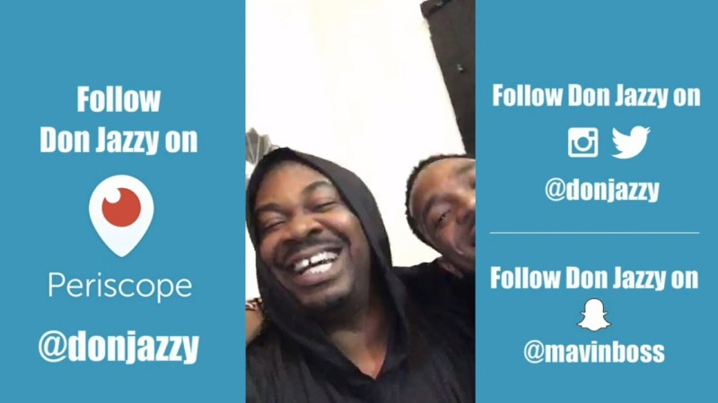 VIDEO: Don Jazzy and D'Banj hang out live on Periscope