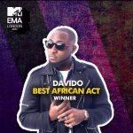 VIDEO: Davido Cries after Winning MTV Best African act 2017