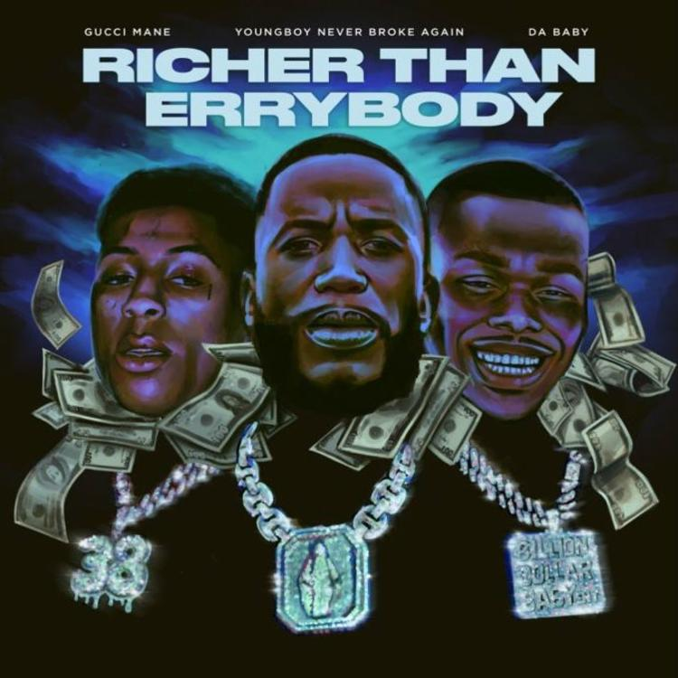 Gucci Mane - Richer Than Errybody Ft DaBaby & NBA YoungBoy Mp3 Download