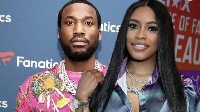 Photo of Meek Mill & Girlfriend Milan Harris Welcome First Child on Rapper's Birthday