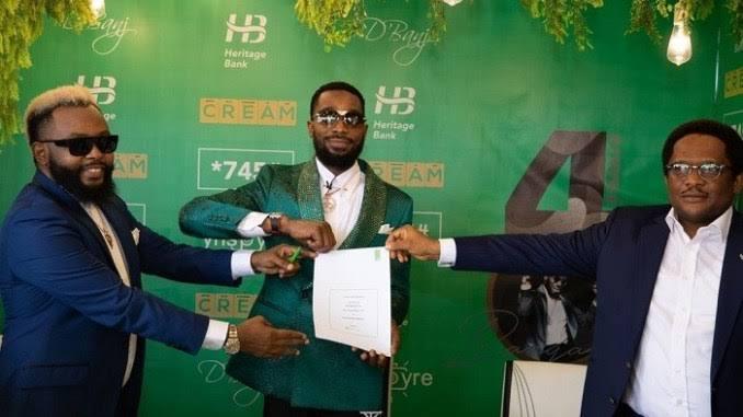 D'Banj's endorsement deal with Heritage Bank