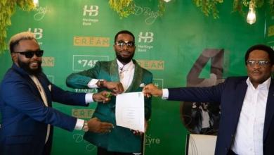 Photo of D'Banj's endorsement deal with Heritage Bank reportedly suspended