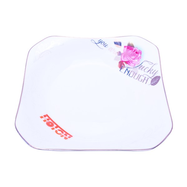 TY – Floral Square Plate (8 inch)