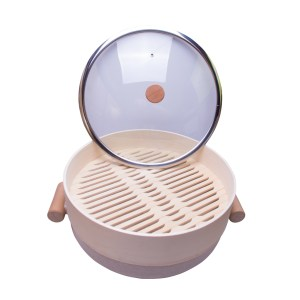 28cm shallow pot with steaming grid