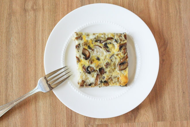 mushroom-leek-sausage-egg-bake