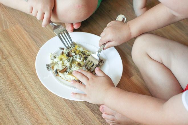 kids-mushroom-leek-sausage-egg-bake