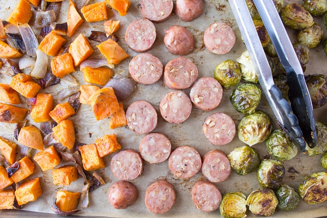 Easy Sheet Pan Dinner with Sausage and Veggies