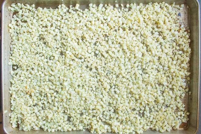 Cauliflower Rice used in Bacon Fried Caulirice