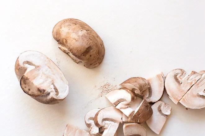 Mushrooms for Easy Gluten Free Breakfast Quesadilla