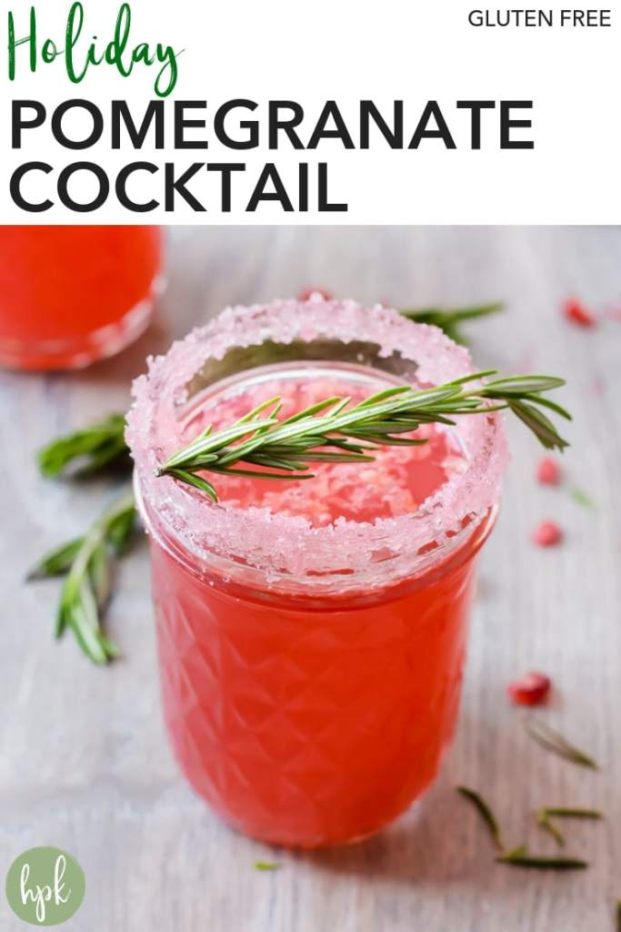 pin for holiday pomegranate cocktail