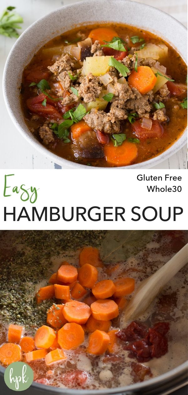 pin for easy hamburger soup