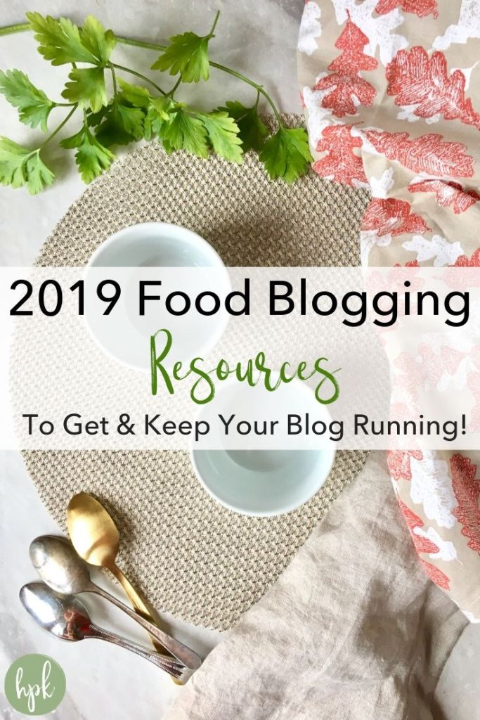 pin for food blogging resources