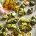 pin for roasted brussels sprouts with maple syrup