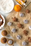 boozy chocolate truffles with accompaniments