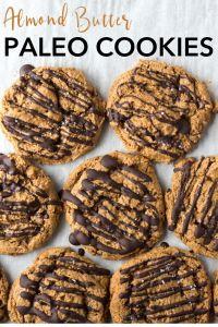pin for flourless almond butter cookies