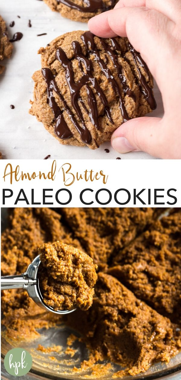 pin for paleo almond butter cookies