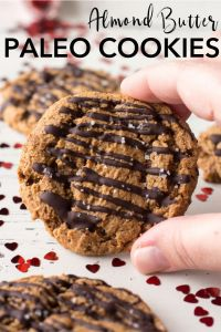 pin for paleo almond butter ookies