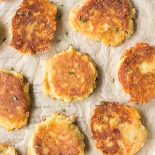 top down shot of potato pancakes