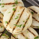 easy grilled onions on a plate