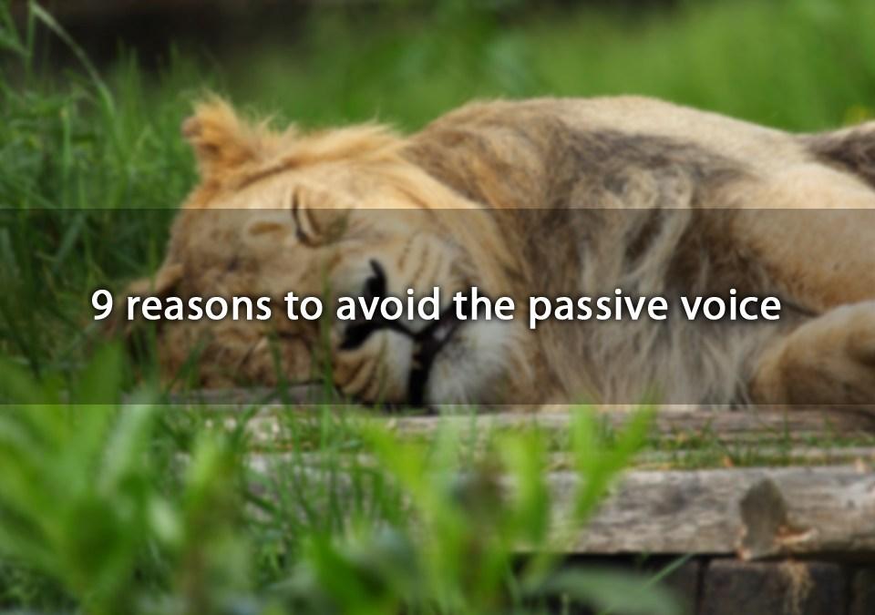 avoid passive voice