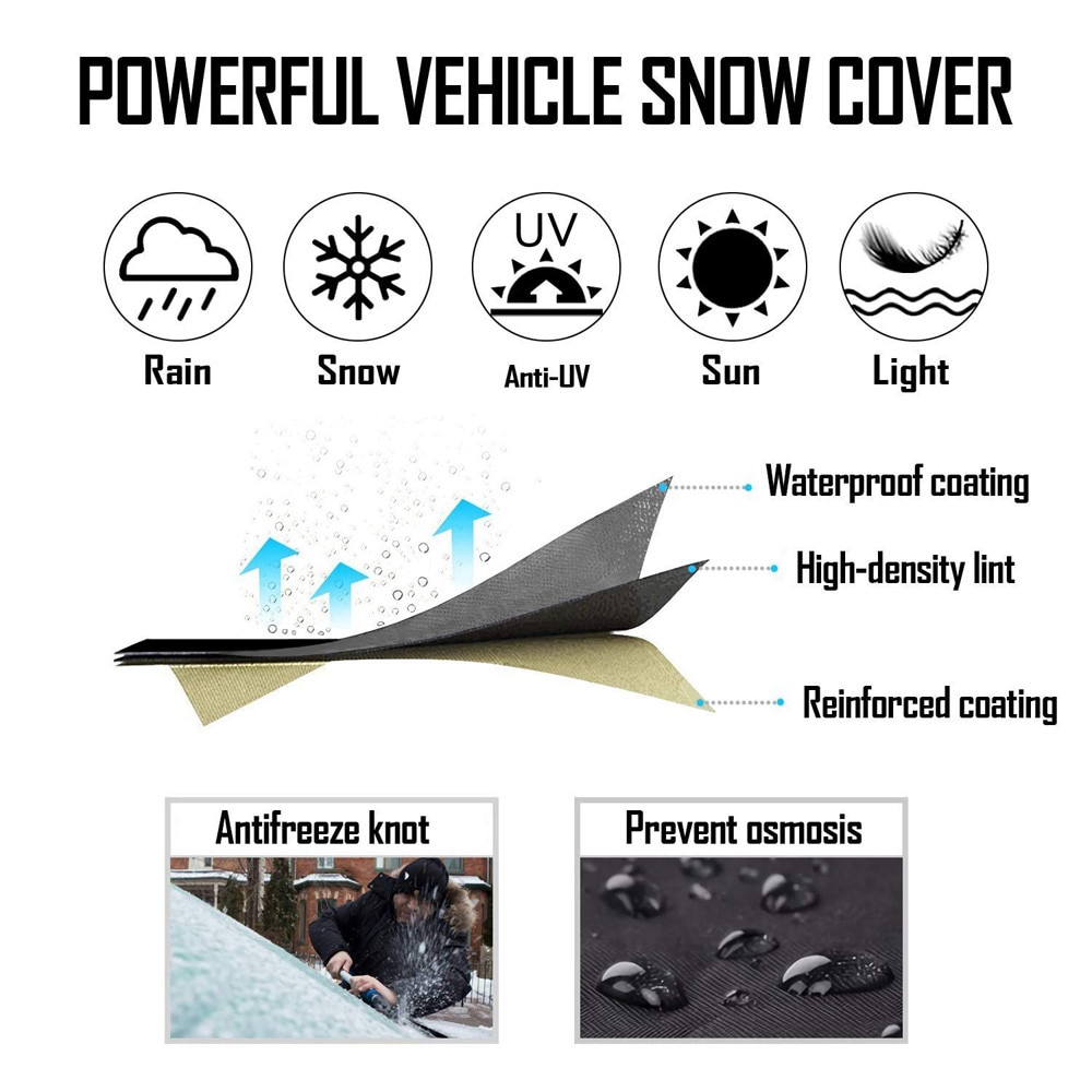57.5inch Car Windscreen Snow Cover Winter Car Cover Windscreen Frost Protector Windshield Cover For The Snow And Ice Universal Premium Windshield Snow Cover Car Frost Protector Fits Most Of Cars 90.6