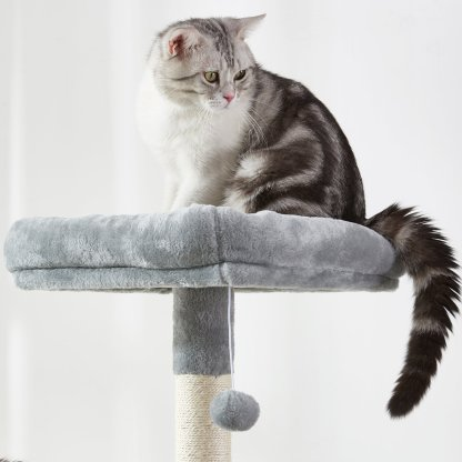 "70.8"" Multi-Level Cat Tree With 2 Condos, Long Slope, Hammock And Top Perch"