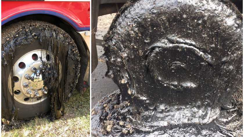 Melting Road Demolishes Car Tires In Australia Hot