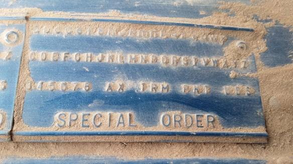 012 1967 plymouth fury i police fender tag