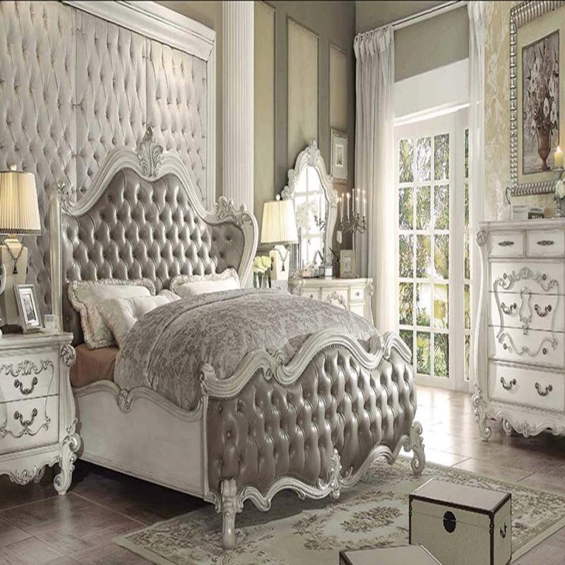 formal luxury antique gray eastern king size 4pc bedroom set 21147ek