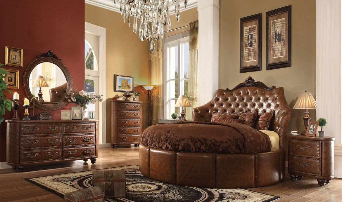 traditional cherry bedroom furniture formal cherry brown bedroom set acme sectionals 17559