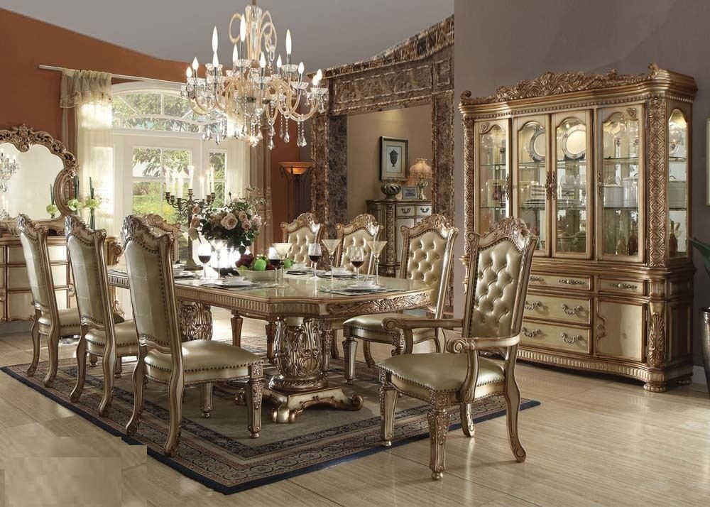 Traditional Vendome Dining Set Acme 63000 Hot Sectionals