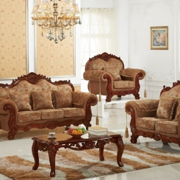 Elegant Traditional Living Room Furniture: 3pc Traditional Sofa Set Living Room Furniture