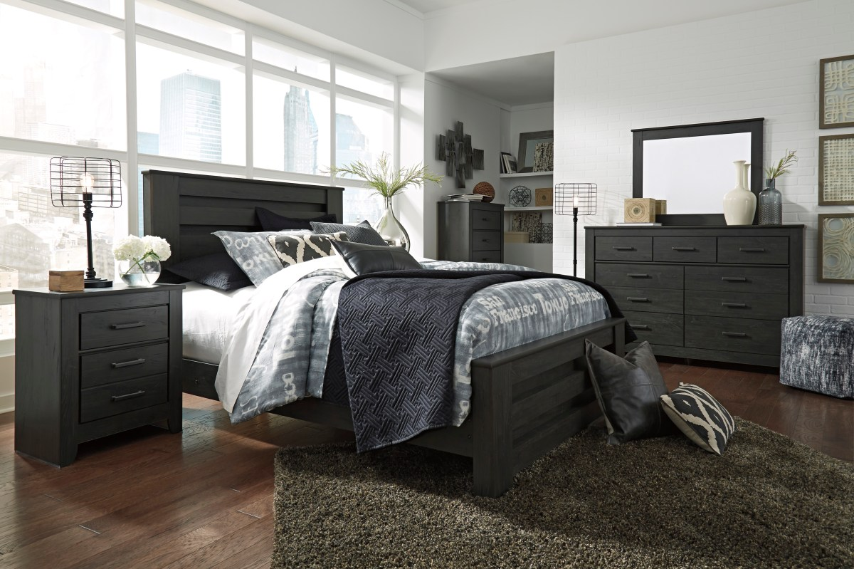 queen size ashley furniture 4pc bedroom set | hot sectionals
