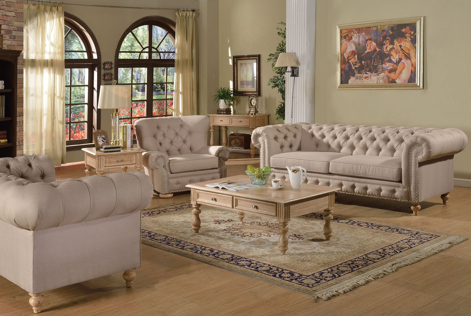 Watch living rooms from hgtv purple formal living room 03:08 purple formal living room 03:08 soft purple tones make sarah's enlarged living room formal but not fussy. 3pc Sofa Set Beige Fabric Traditional Living Room | Hot ...