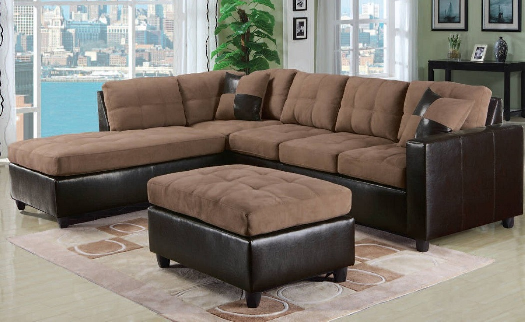 Modern Sectional Sectionals Sofa Couch 2 Pc Living Room Furniture, Acme  #51330