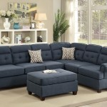 Sectional Blue Fabric Sofa Loveseat Wedge Hot Sectionals