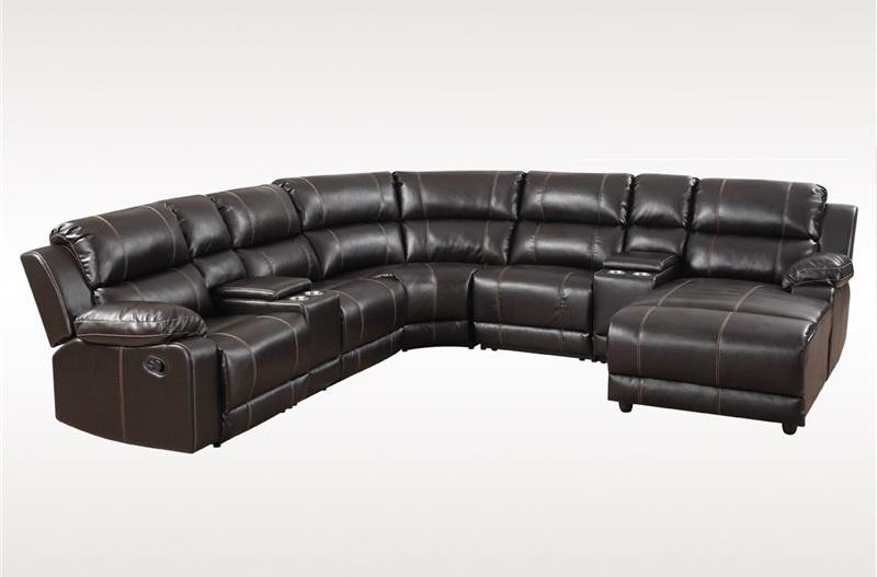 Outstanding New 7Pc Sectional Sofa Set Espresso Bonded Leather Sofa Contemporary Living Room Uwap Interior Chair Design Uwaporg
