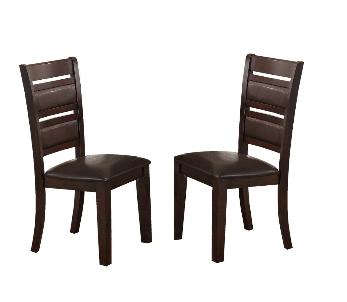 Dining Room Furniture Product: Elegant Dining Cherry Finish 2pc Set Chair