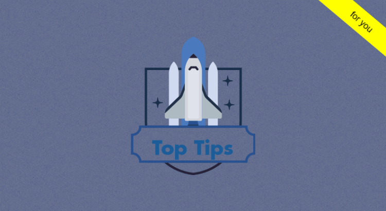 Title image to tips for a management accountant article showing a space shuttle