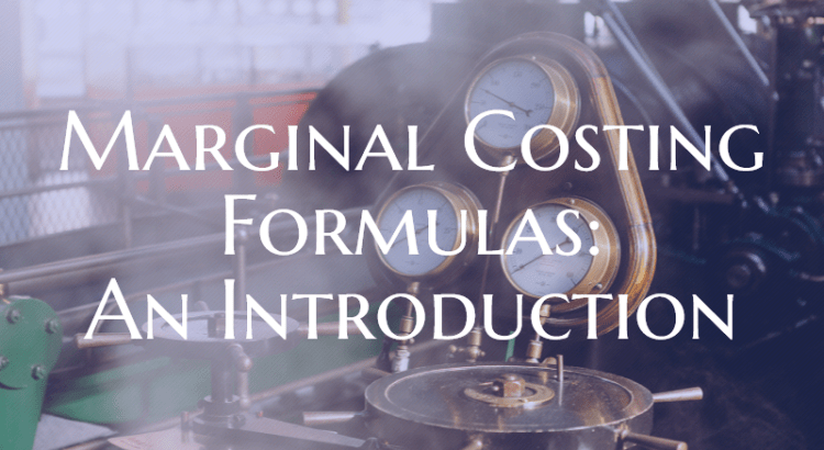 Title image to basic article about marginal costing formulas