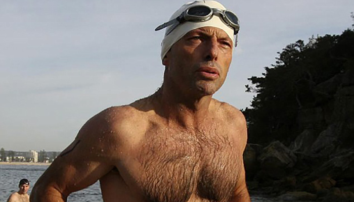 Tony Abbott shirtless