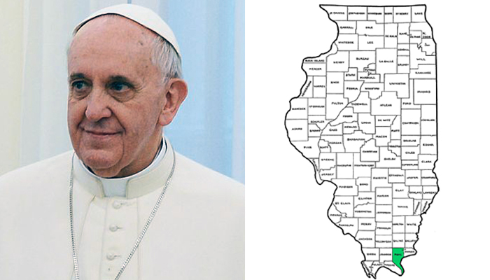 Pope Francis vs. Pope County Illinois