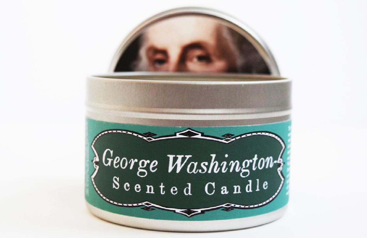 George Washington-Scented Candle