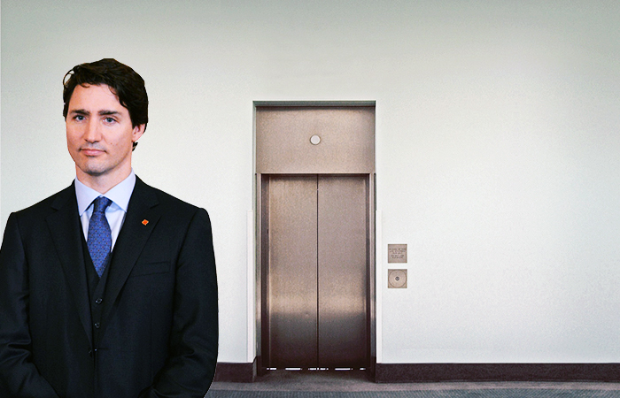 Justin Trudeau + elevator