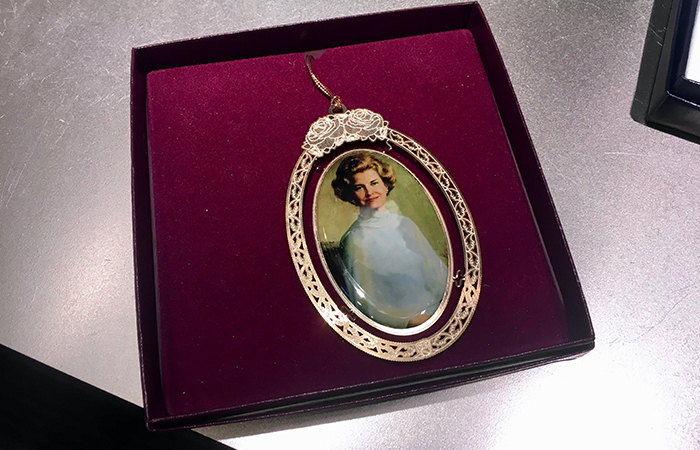 Betty Ford Christmas ornament