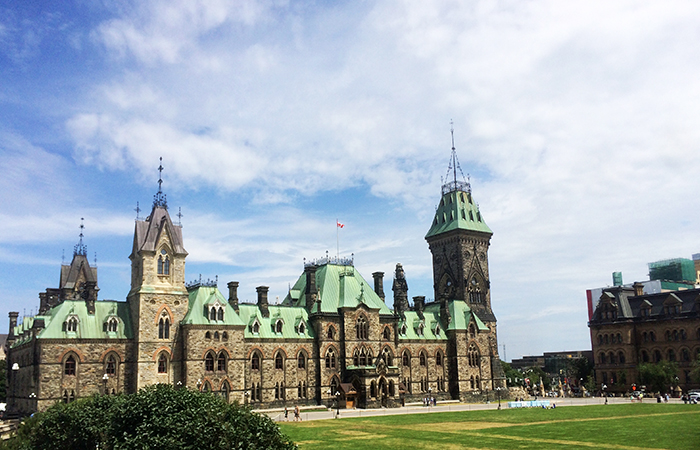One of the Canadian parliament buildings. Which one? Who knows!