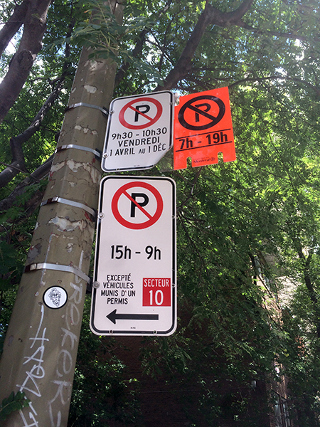 Parking signs in Montreal are confusing