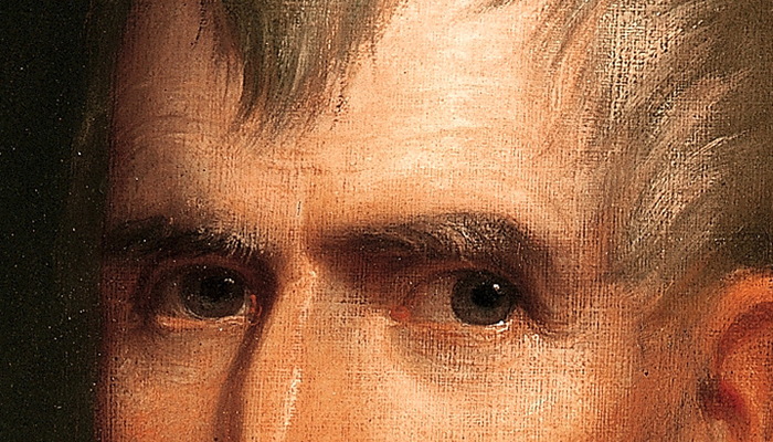 William Henry Harrison's eyebrows