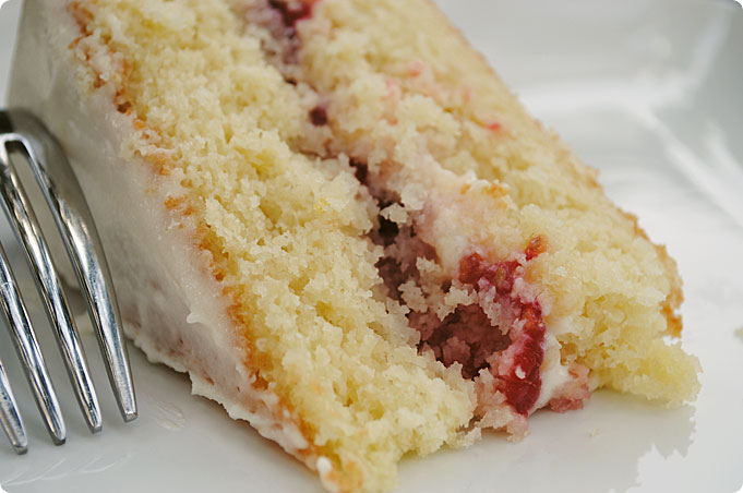 Strawberry Sponge Cake Cream Cheese Lime Frosting