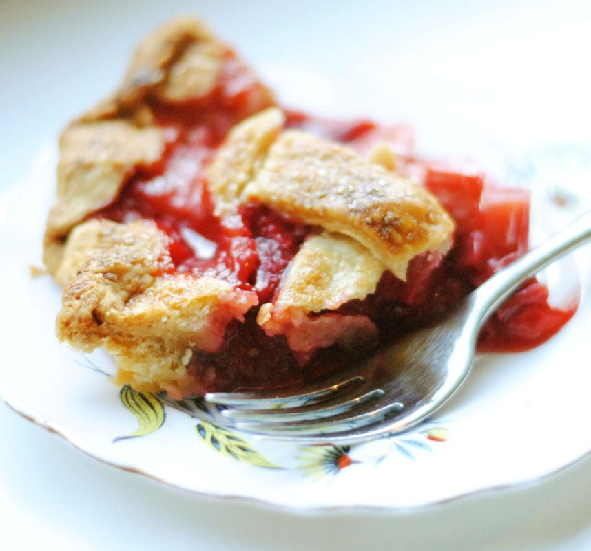 Strawberry Rhubarb Pie | Hottie Biscotti